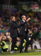 15 November 2018; Republic of Ireland manager Martin O'Neill with Republic of Ireland assistant manager Roy Keane during the International Friendly match between Republic of Ireland and Northern Ireland at the Aviva Stadium in Dublin. Photo by Stephen McCarthy/Sportsfile