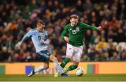 15 November 2018; Ronan Curtis of Republic of Ireland in action against Steven Davis of Northern Ireland during the International Friendly match between Republic of Ireland and Northern Ireland at the Aviva Stadium in Dublin. Photo by Stephen McCarthy/Sportsfile