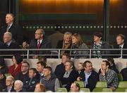 15 November 2018; DUP leader Arlene Foster, second right, and An Tánaiste Simon Coveney TD, second left, during the International Friendly match between Republic of Ireland and Northern Ireland at the Aviva Stadium in Dublin. Photo by Seb Daly/Sportsfile