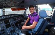 16 November 2018; Wexford and Limerick hurlers departed Dublin Airport for Boston today onboard Aer Lingus flight EI 137. Aer Lingus, Title Sponsor and Official Airline of the Aer Lingus Fenway Hurling Classic, is thrilled to once again be supporting this unique cultural and sporting event, bringing four teams and 130 hurlers to Boston's famous Fenway Park. Games will be broadcast on TG4 on Sunday, November 18th with Wexford v Limerick in the first semi-final and Clare v Cork in the second semi-final. Pictured is Wexford Hurler Lee Chin during the Aer Lingus Fenway Hurling Classic Send Off at Dublin Airport in Dublin. Photo by Piaras Ó Mídheach/Sportsfile