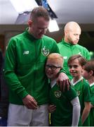 15 November 2018; Glenn Whelan of Republic of Ireland with his son Jack prior to the International Friendly match between Republic of Ireland and Northern Ireland at the Aviva Stadium in Dublin. Photo by Stephen McCarthy/Sportsfile