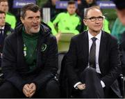 15 November 2018; Republic of Ireland manager Martin O'Neill and assistant manager Roy Keane, left, prior to the International Friendly match between Republic of Ireland and Northern Ireland at the Aviva Stadium in Dublin. Photo by Stephen McCarthy/Sportsfile