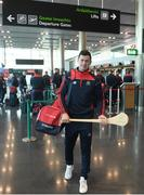 16 November 2018; Cork and Clare hurlers departed Dublin Airport for Boston today onboard an Aer Lingus flight. Aer Lingus, Title Sponsor and Official Airline of the Aer Lingus Fenway Hurling Classic, is thrilled to once again be supporting this unique cultural and sporting event, bringing four teams and 130 hurlers to Boston's famous Fenway Park. Games will be broadcast on TG4 on Sunday, November 18th with Wexford v Limerick in the first semi-final and Clare v Cork in the second semi-final. Pictured at the Aer Lingus Fenway Hurling Classic - Send Off is Cork hurler, Séamus Harnedy at Dublin Airport, Dublin. Photo by Eóin Noonan/Sportsfile