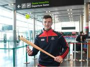 16 November 2018; Cork and Clare hurlers departed Dublin Airport for Boston today onboard an Aer Lingus flight. Aer Lingus, Title Sponsor and Official Airline of the Aer Lingus Fenway Hurling Classic, is thrilled to once again be supporting this unique cultural and sporting event, bringing four teams and 130 hurlers to Boston's famous Fenway Park. Games will be broadcast on TG4 on Sunday, November 18th with Wexford v Limerick in the first semi-final and Clare v Cork in the second semi-final. Pictured at the Aer Lingus Fenway Hurling Classic - Send Off is Cork hurler, Patrick Horgan at Dublin Airport, Dublin. Photo by Eóin Noonan/Sportsfile
