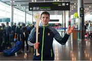 16 November 2018; Cork and Clare hurlers departed Dublin Airport for Boston today onboard an Aer Lingus flight. Aer Lingus, Title Sponsor and Official Airline of the Aer Lingus Fenway Hurling Classic, is thrilled to once again be supporting this unique cultural and sporting event, bringing four teams and 130 hurlers to Boston's famous Fenway Park. Games will be broadcast on TG4 on Sunday, November 18th with Wexford v Limerick in the first semi-final and Clare v Cork in the second semi-final. Pictured at the Aer Lingus Fenway Hurling Classic - Send Off is Clare hurler John Conlon at Dublin Airport, Dublin. Photo by Eóin Noonan/Sportsfile