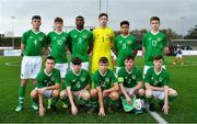 16 November 2018; The Republic of Ireland team prior to the U16 Victory Shield match between Republic of Ireland and Scotland at Mounthawk Park in Tralee, Kerry. Photo by Brendan Moran/Sportsfile