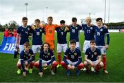 16 November 2018; The Scotland team prior to the U16 Victory Shield match between Republic of Ireland and Scotland at Mounthawk Park in Tralee, Kerry. Photo by Brendan Moran/Sportsfile