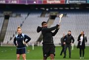 16 November 2018; World Rugby Champions, New Zealand All Blacks and Dublin GAA senior players were in Croke Park today at the AIG Heroes event, a CSR initiative to help support local grassroots communities by using their sporting partnerships with Dublin GAA and others to promote sport as a means to build self-confidence and social skills in young kids. As part of the visit to Croke Park, AIG also gifted primary schools in the area with sports equipment. AIG is proud sponsor of Dublin GAA and New Zealand Rugby. Pictured Waisake Naholo of New Zealand All Blacks during the AIG Heroes Event at Croke Park, Dublin. Photo by Sam Barnes/Sportsfile