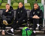 15 November 2018; Republic of Ireland players, from left, Aiden O'Brien, David Meyler and Richard Keogh prior to the International Friendly match between Republic of Ireland and Northern Ireland at the Aviva Stadium in Dublin. Photo by Stephen McCarthy/Sportsfile