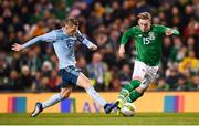 15 November 2018; Ronan Curtis of Republic of Ireland and Steven Davis of Northern Ireland during the International Friendly match between Republic of Ireland and Northern Ireland at the Aviva Stadium in Dublin. Photo by Stephen McCarthy/Sportsfile