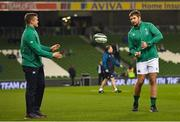 17 November 2018; Josh van der Flier of Ireland, right, and Iain Henderson of Ireland check the pitch prior to the Guinness Series International match between Ireland and New Zealand at the Aviva Stadium in Dublin. Photo by Brendan Moran/Sportsfile