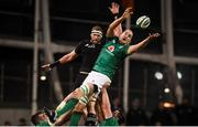 17 November 2018; Devin Toner of Ireland wins possession from a lineout ahead of Kieran Read of New Zealand during the Guinness Series International match between Ireland and New Zealand at the Aviva Stadium in Dublin. Photo by David Fitzgerald/Sportsfile