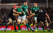17 November 2018; Josh van der Flier of Ireland is tackled by Sam Whitelock of New Zealand during the Guinness Series International match between Ireland and New Zealand at the Aviva Stadium in Dublin. Photo by Ramsey Cardy/Sportsfile