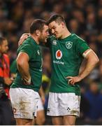 17 November 2018; Jonathan Sexton, right, and Jack McGrath of Ireland following the Guinness Series International match between Ireland and New Zealand at the Aviva Stadium in Dublin. Photo by David Fitzgerald/Sportsfile