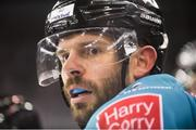 17 November 2018; Blair Riley of Belfast Giants during the IIHF Continental Cup Third Round Group E match between Stena Line Belfast Giants and GKS Katowice at the SSE Arena in Belfast. Photo by Eoin Smith/Sportsfile