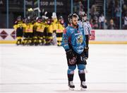 17 November 2018; A dejected David Rutherford of Belfast Giants following the IIHF Continental Cup Third Round Group E match between Stena Line Belfast Giants and GKS Katowice at the SSE Arena in Belfast. Photo by Eoin Smith/Sportsfile