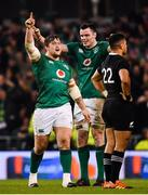 17 November 2018; Andrew Porter, left, and James Ryan of Ireland celebrate at the final whistle of the Guinness Series International match between Ireland and New Zealand at the Aviva Stadium in Dublin. Photo by Ramsey Cardy/Sportsfile