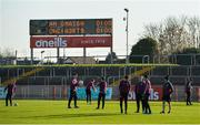18 November 2018; Eoghan Rua players inspecting the pitch before the AIB Ulster GAA Football Senior Club Championship semi-final match between Eoghan Rua Coleraine and Scotstown at Healy Park in Omagh, Tyrone. Photo by Oliver McVeigh/Sportsfile