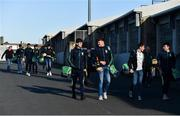 18 November 2018; Coolderry players arrive ahead of the AIB Leinster GAA Hurling Senior Club Championship semi-final match between Ballyboden St Enda's and Coolderry at Parnell Park, in Dublin. Photo by Sam Barnes/Sportsfile
