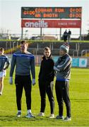 18 November 2018; Rory Beggan, left, Donal Morgan, centre, and Mark Duffy of Scotstown inspect the pitch before the AIB Ulster GAA Football Senior Club Championship semi-final match between Eoghan Rua Coleraine and Scotstown at Healy Park in Omagh, Tyrone. Photo by Oliver McVeigh/Sportsfile