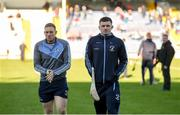 18 November 2018; Na Piarsaigh players Shane Dowling and Kevin Downes walk the pitch prior to the AIB Munster GAA Hurling Senior Club Championship Final between Na Piarsaigh and Ballygunner at Semple Stadium in Thurles, Co. Tipperary. Photo by Diarmuid Greene/Sportsfile