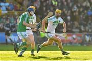 18 November 2018; Colin Fennelly of Ballyhale Shamrocks in action against Tom Stafford of Naomh Éanna during the AIB Leinster GAA Hurling Senior Club Championship semi-final match between Naomh Éanna and Ballyhale Shamrocks at Innovate Wexford Park in Wexford. Photo by Matt Browne/Sportsfile
