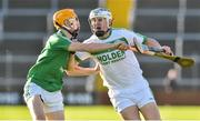 18 November 2018; TJ Reid of Ballyhale Shamrocks in action against Aodhan Doyle of Naomh Éanna during the AIB Leinster GAA Hurling Senior Club Championship semi-final match between Naomh Éanna and Ballyhale Shamrocks at Innovate Wexford Park in Wexford. Photo by Matt Browne/Sportsfile
