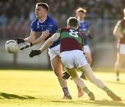 18 November 2018; Conor McCarthy of Scotstown in action against Niall Holly of Eoghan Rua Coleraine during the AIB Ulster GAA Football Senior Club Championship semi-final match between Eoghan Rua Coleraine and Scotstown at Healy Park in Omagh, Tyrone. Photo by Oliver McVeigh/Sportsfile