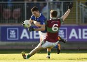 18 November 2018; Shane Carey of Scotstown in action against Barry McGoldrick of Eoghan Rua Coleraine during the AIB Ulster GAA Football Senior Club Championship semi-final match between Eoghan Rua Coleraine and Scotstown at Healy Park in Omagh, Tyrone. Photo by Oliver McVeigh/Sportsfile