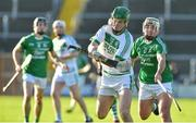 18 November 2018; Eoin Dody of Ballyhale Shamrocks in action against David O'Brien of Naomh Éanna during the AIB Leinster GAA Hurling Senior Club Championship semi-final match between Naomh Éanna and Ballyhale Shamrocks at Innovate Wexford Park in Wexford. Photo by Matt Browne/Sportsfile