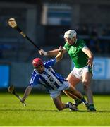 18 November 2018; Niall McMorrow of Ballyboden St Enda's in action against Kevin Brady of Coolderry during the AIB Leinster GAA Hurling Senior Club Championship semi-final match between Ballyboden St Enda's and Coolderry at Parnell Park, in Dublin. Photo by Sam Barnes/Sportsfile