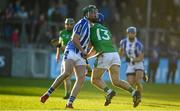18 November 2018; Brian Carroll of Coolderry in action against Simon Lambert of Ballyboden St Enda's during the AIB Leinster GAA Hurling Senior Club Championship semi-final match between Ballyboden St Enda's and Coolderry at Parnell Park, in Dublin. Photo by Sam Barnes/Sportsfile