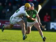 18 November 2018; Colin Fennelly of Ballyhale Shamrocks in action against Brendan Travers of Naomh Éanna during the AIB Leinster GAA Hurling Senior Club Championship semi-final match between Naomh Éanna and Ballyhale Shamrocks at Innovate Wexford Park in Wexford. Photo by Matt Browne/Sportsfile