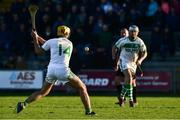 18 November 2018; Colin Fennelly of Ballyhale Shamrocks scores his side's sixth goal after his team-mate TJ Reid passed the ball to him from a free during the AIB Leinster GAA Hurling Senior Club Championship semi-final match between Naomh Éanna and Ballyhale Shamrocks at Innovate Wexford Park in Wexford. Photo by Matt Browne/Sportsfile