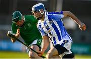 18 November 2018; Collie Basquel of Ballyboden St Enda's in action against Trevor Corcoran of Coolderry on his way to scoring his side's fourth goal during the AIB Leinster GAA Hurling Senior Club Championship semi-final match between Ballyboden St Enda's and Coolderry at Parnell Park, in Dublin. Photo by Sam Barnes/Sportsfile