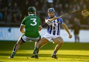 18 November 2018; Paul Ryan of Ballyboden St Enda's in action against Trevor Corcoran of Coolderry during the AIB Leinster GAA Hurling Senior Club Championship semi-final match between Ballyboden St Enda's and Coolderry at Parnell Park, in Dublin. Photo by Sam Barnes/Sportsfile