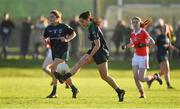 18 November 2018; Sinead Goldrick of Foxrock-Cabinteely in action against Donaghmoyne during the All-Ireland Ladies Senior Club Football Championship Semi-Final 2018 match between Foxrock-Cabinteely and Donaghmoyne at Bray Emmets GAA Club in Bray, Wicklow. Photo by Brendan Moran/Sportsfile
