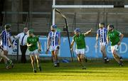 18 November 2018; Brian Carroll of Coolderry celebrates after scoring a late goal during the AIB Leinster GAA Hurling Senior Club Championship semi-final match between Ballyboden St Enda's and Coolderry at Parnell Park, in Dublin. Photo by Sam Barnes/Sportsfile
