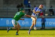 18 November 2018; Niall McMorrow of Ballyboden St Enda's in action against David King of Coolderry during the AIB Leinster GAA Hurling Senior Club Championship semi-final match between Ballyboden St Enda's and Coolderry at Parnell Park, in Dublin. Photo by Sam Barnes/Sportsfile