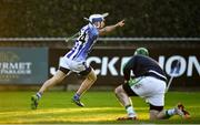 18 November 2018; Collie Basquel of Ballyboden St Enda's, celebrates after scoring his side's fifth goal during the AIB Leinster GAA Hurling Senior Club Championship semi-final match between Ballyboden St Enda's and Coolderry at Parnell Park, in Dublin. Photo by Sam Barnes/Sportsfile