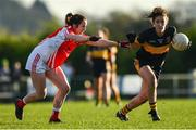 18 November 2018; Ciara O'Sullivan of Mourneabbey in action against Lisa Gannon of Kilkerrin-Clonberne during the All-Ireland Ladies Senior Club Football Championship Semi-Final 2018 match between Kilkerrin-Clonberne and Mourneabbey at Clonberne Sports Field in Ballinasloe, Galway.   Photo by Eóin Noonan/Sportsfile