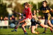 18 November 2018; Lynsey Noone of Kilkerrin-Clonberne in action against Doireann O'Sullivan of Mourneabbey during the All-Ireland Ladies Senior Club Football Championship Semi-Final 2018 match between Kilkerrin-Clonberne and Mourneabbey at Clonberne Sports Field in Ballinasloe, Galway.   Photo by Eóin Noonan/Sportsfile
