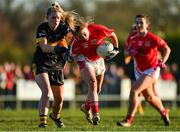 18 November 2018; Lynsey Noone of Kilkerrin-Clonberne in action against Kathryn Coakley of Mourneabbey during the All-Ireland Ladies Senior Club Football Championship Semi-Final 2018 match between Kilkerrin-Clonberne and Mourneabbey at Clonberne Sports Field in Ballinasloe, Galway.   Photo by Eóin Noonan/Sportsfile