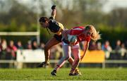 18 November 2018; Louise Ward of Kilkerrin-Clonberne in action against Eimear Meaney of Mourneabbey during the All-Ireland Ladies Senior Club Football Championship Semi-Final 2018 match between Kilkerrin-Clonberne and Mourneabbey at Clonberne Sports Field in Ballinasloe, Galway. Photo by Eóin Noonan/Sportsfile