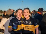 18 November 2018; Ciara and Doireann O'Sullivan of Mourneabbey following the All-Ireland Ladies Senior Club Football Championship Semi-Final 2018 match between Kilkerrin-Clonberne and Mourneabbey at Clonberne Sports Field in Ballinasloe, Galway.   Photo by Eóin Noonan/Sportsfile