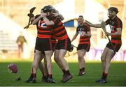 18 November 2018; Ballygunner players celebrate after the AIB Munster GAA Hurling Senior Club Championship Final between Na Piarsaigh and Ballygunner at Semple Stadium in Thurles, Co. Tipperary. Photo by Diarmuid Greene/Sportsfile