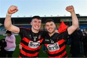 18 November 2018; Ballygunner players Peter Hogan and Conor Sheahan celebrate after the AIB Munster GAA Hurling Senior Club Championship Final between Na Piarsaigh and Ballygunner at Semple Stadium in Thurles, Co. Tipperary. Photo by Diarmuid Greene/Sportsfile