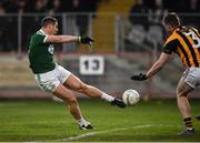 18 November 2018; Kevin Cassidy of Gaoth Dobhair scores his side's fourth goal during the second half in the AIB Ulster GAA Football Senior Club Championship semi-final match between Crossmaglen Rangers and Gaoth Dobhair at Healy Park in Omagh, Tyrone. Photo by Oliver McVeigh/Sportsfile