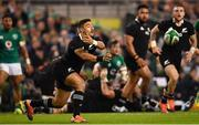 17 November 2018; Richie Mo'unga of New Zealand during the Guinness Series International match between Ireland and New Zealand at the Aviva Stadium in Dublin. Photo by Ramsey Cardy/Sportsfile