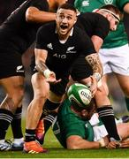 17 November 2018; TJ Perenara of New Zealand during the Guinness Series International match between Ireland and New Zealand at the Aviva Stadium in Dublin. Photo by Ramsey Cardy/Sportsfile